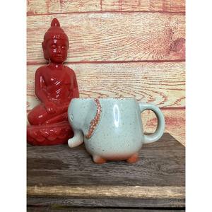 Boho Elephant Tea Bag Holder Mug